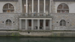 View of the Central Market building in Ljubljana Stock Footage