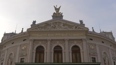 Slovene National Theatre Opera and Ballet in Ljubljana Stock Footage