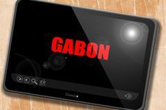 Greetings from gabon Stock Illustration
