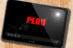 Greetings from peru - stock illustration