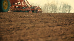 Agriculture background -farmer plowing field  Stock Footage