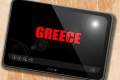 Greetings from greece - stock illustration