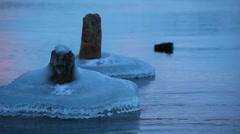 Ice and pillars Stock Footage