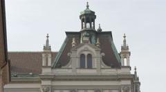 University of Ljubljana building's roof in Ljubljana Stock Footage