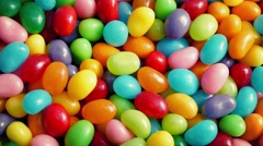 Colorful Candy Beans Rotating Closeup - stock footage