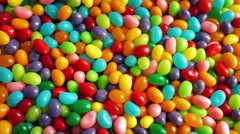 Pile Of Jelly Beans Rotating Stock Footage