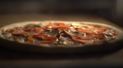 Pizza in an oven Stock Footage