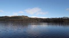 Timelapse of Ben Vrackie reflected in Loch Faskally Scotland Stock Footage