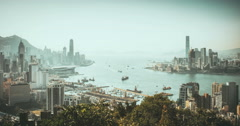 Hong Kong time lapse day time Stock Footage