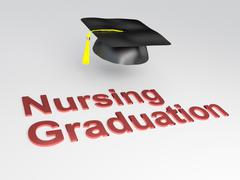 Nursing Graduation concept Stock Illustration