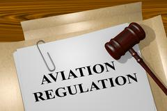 Aviation Regulation concept Stock Illustration