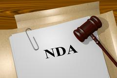 NDA concept - stock illustration