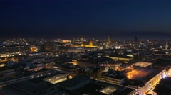 City of bruxelles illuminated at night aerial Stock Footage