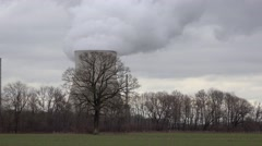 Nuclear power plant in Germany, time-lapse Stock Footage