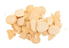 Small cookies isolated - stock photo