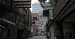 Back Printers Alley Nashville Stock Footage