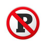 No Parking Sign - stock illustration