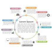 Circle Infographics - stock illustration