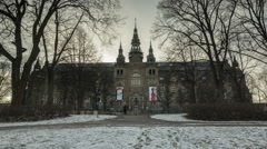 The Nordic Museum of Stockholm time-lapse Stock Footage