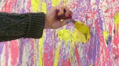 Colorful Mess Painting - stock footage