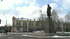 A Statue Of Lenin. - stock footage