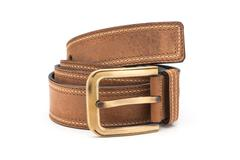 Rolled Faux Leather Belt - stock photo