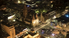 St Paul's Cathedral Melbourne time-lapse Stock Footage