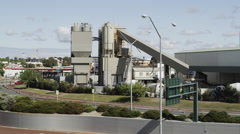 View of Cement Factory Near Graham Farmer Freeway Stock Footage