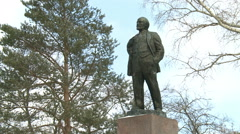 A Statue Of Lenin. Stock Footage