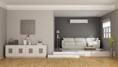 Two levels modern living room Stock Illustration