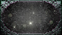 Glamorous Sparkling Sequins in a Silver Border Frame Background Stock Footage