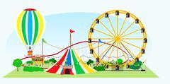 Amusement park Piirros