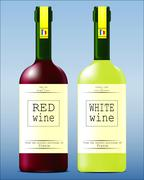 Two bottles of French wine Stock Illustration