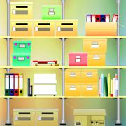 Archives of small companies Stock Illustration