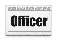 Stock Illustration of Law concept: newspaper headline Officer