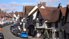 Lavenham England Swan hotel spa and pub 4K Stock Footage