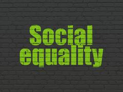Politics concept: Social Equality on wall background Stock Illustration