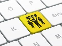 Stock Illustration of Politics concept: Election Campaign on computer keyboard background