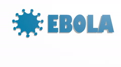 Infographic about deadly ebola virus. Illness symptoms, information, facts. Arkistovideo