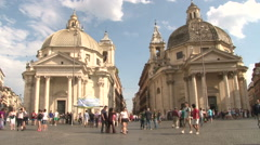 The twin churches of Santa Maria and Santa Maria montesano of miracles Stock Footage