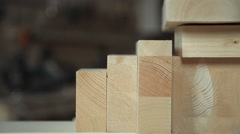 Products from wood Stock Footage