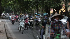 Scooter Traffic in Hanoi Stock Footage