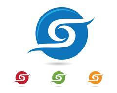 S letter logo Template - stock illustration