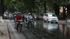 Busy Street in Hanoi, Vietnam Stock Footage