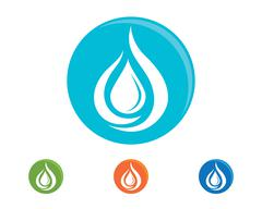 Water droplet logo Template Piirros