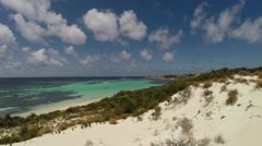 Clear water and clouds at Rottnest Island Stock Footage