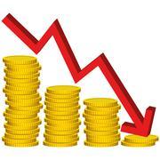 Illustration Graphic Vector lose Money - stock illustration