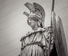 Athena Greek goddess of wisdom and science - stock photo