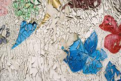 Peeling Paint Grunge - stock photo