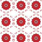 Primitive simple red modern pattern - stock illustration